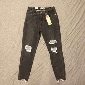 Levi's 721 distressed skinny jeans